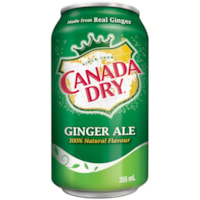 Canada Dry Ginger Ale, 355 mL Cans, Carton of 24