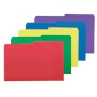 Chemises de couleur Grand & Toy, couleurs variées, format légal, emb. de 25