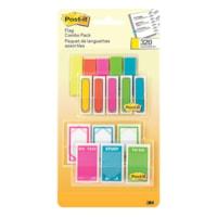 Languettes Post-it, couleurs vives, formats variées, emb. de 320