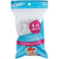 Contenants et couvercles transparents pour petites portions Titan, emballage de 12