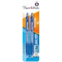 Stylos à encre gel à pointe rétractable Profile Paper Mate, bleu, pointe moyenne de 0,7 mm, emb. de 2