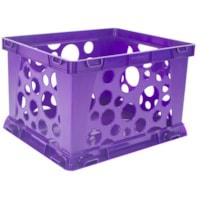 Storex Premium File Crate, Purple, 7 L, Mini Size