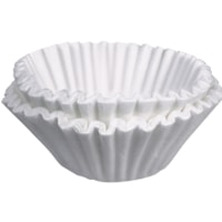 BUNN Commercial Coffee Filters, White, 4 1/4