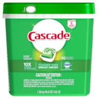 Détergent pour lave-vaisselle en sachets ActionPacs 4x plus concentré Cascade, emb. de 90