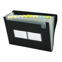 Filexec Black Poly Expanding File, Letter-Size (8 1/2