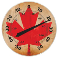 BIOS Living Weather-Resistant Thermometer, Canadian Flag Design, 12