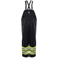 Open Road High-Visibility 150D Large Black Bib Pants