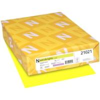 Papier couverture Astrobrights Neenah, couleur citron Lift-Off Lemon, format lettre, certifié FSC et Green Seal, 65 lb, rame