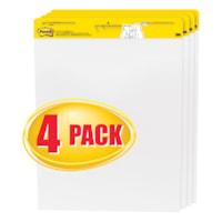 Tablette de feuilles autocollantes en format chevalet blanc Post-it, emballage de 4 pochettes