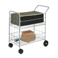 Fellowes Heavy-Duty Mailroom Cart, Chrome, 21 1/2
