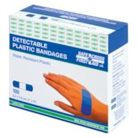 Pansements en plastique bleu détectables SAFECROSS