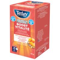 Tetley Tea Super Herbal Boost Peach Ginger and Dandelion Tea, 25/BX