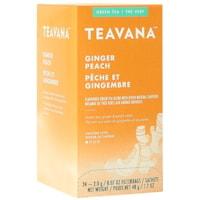 Sachets de thé Teavana, pêche et gingembre, 2,0 g, boîte de 24