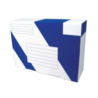 Crownhill Packaging Heavy-Duty Mailing Boxes, White/Blue, 13 1/2