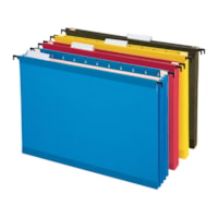 Pendaflex SureHook Reinforced Hanging Pocket Files, Assorted Colours, Letter Size, 3 1/2