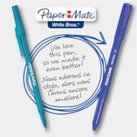 Paper Mate Ballpoint Stick Pens, Blue, Medium 1.0 mm