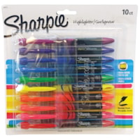 Sharpie Liquid Pen-Style Highlighters, Assorted Colours, Narrow Chisel Tip, 10/PK