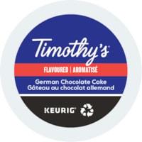 Dosettes K-Cup de café Timothy's, Gâteau au chocolat allemand, boîte de 24