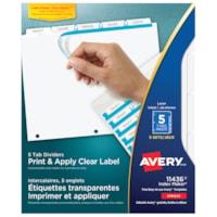 Intercalaires et onglets étiquettes transparentes imprimer et appliquer Index Maker Avery