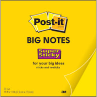 Post-it Super Sticky Big Notes, Bright Yellow, 11