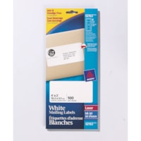 Avery 2163 Mini-Sheet Address/Mailing Labels, White, 4