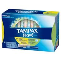 Tampax Pocket Pearl Compact Tampons Duopack, 34/PK