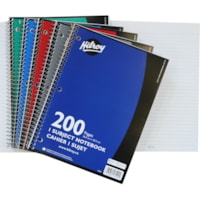 Hilroy Executive Coil 1-Subject Notebook, Assorted Colours (No Colour Choice On Delivered Orders), 10 1/2