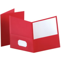 Oxford Embossed Twin-Pocket Report Cover Folders, Red, Letter Size
