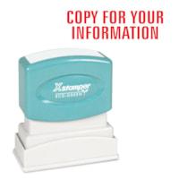 Timbre générique Xstamper, COPY YOUR INFO, rouge, 1/2 po x 1 5/8 po