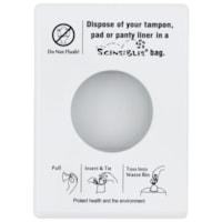HOSPECO Scensibles® Personal Disposal Bag Dispenser, White Plastic