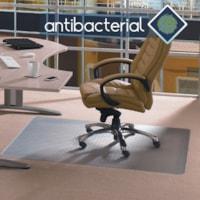 Tapis antistatique antimicrobien pour moquettes à poils standard Cleartex Advantagemat Floortex, transparent, 45 po x 53 po