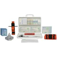 SAFECROSS Basic First Aid Kit, British Columbia, Level 1, 36-Unit, Plastic Box, Unitized