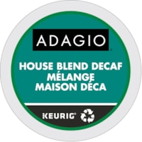 Dosettes K-Cup de café Adagio, mélange maison déca, boîte de 24