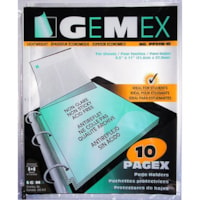 Gemex Top-Loading Sheet Protectors, Standard Weight, Non-Glare, Letter Size, 10/PK
