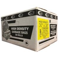 Sacs à ordures transparents robustes 30 po x 38 po Eco II Manufacturing Inc.