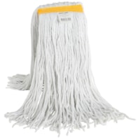 Globe Commercial Products Synthetic Wet Mop With Narrow Band And Cut End, 24 oz