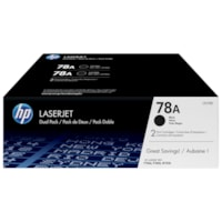 HP 78A Black Standard Yield Toner Cartridges, 2/PK (CE278D)