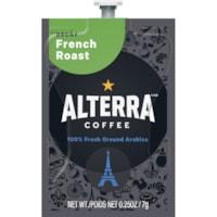 Flavia Alterra Single-Serve Coffee Freshpacks, French Roast, Decaf, 100/CT