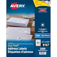 Avery 8167 Easy Peel Address Labels, White, 1/2