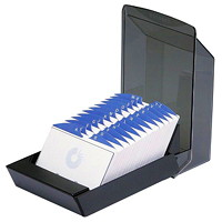 Rolodex Covered Card Tray