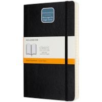 Carnet à couverture souple Classic Moleskine, ligné, noir, 5 po x 8 1/4 po, 400 pages