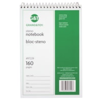 Grand & Toy Steno Notebook, Green, 6
