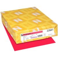 Papier couverture Astrobrights Neenah, couleur rouge Rocket Red, format lettre, certifié FSC et Green Seal, 65 lb, rame
