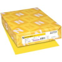 Papier couverture Astrobrights Neenah, couleur jaune Solar Yellow, format lettre, certifié FSC et Green Seal, 65 lb, rame