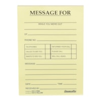 Grand & Toy Phone Message Pads, Yellow, 4 1/4