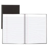 Carnet à couverture rigide A95 Blueline, noir, 10 1/2 po x 8 po, 112 pages