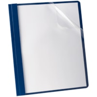 Oxford Clear Front Letter-Size Report Cover, Blue Back