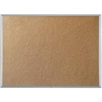 Quartet Economy Cork Bulletin Board, Aluminum Frame, 48