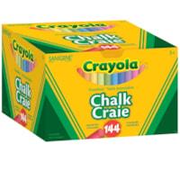 Crayola Dustless Chalk, Assorted Colours, 144/BX