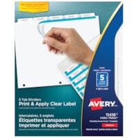 Intercalaires avec étiquettes transparentes Index Maker Avery